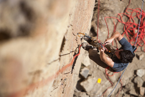 climber at one of the AAC Smith Rock Craggin' Classic clinics  photo courtesy of the American Alpine Club