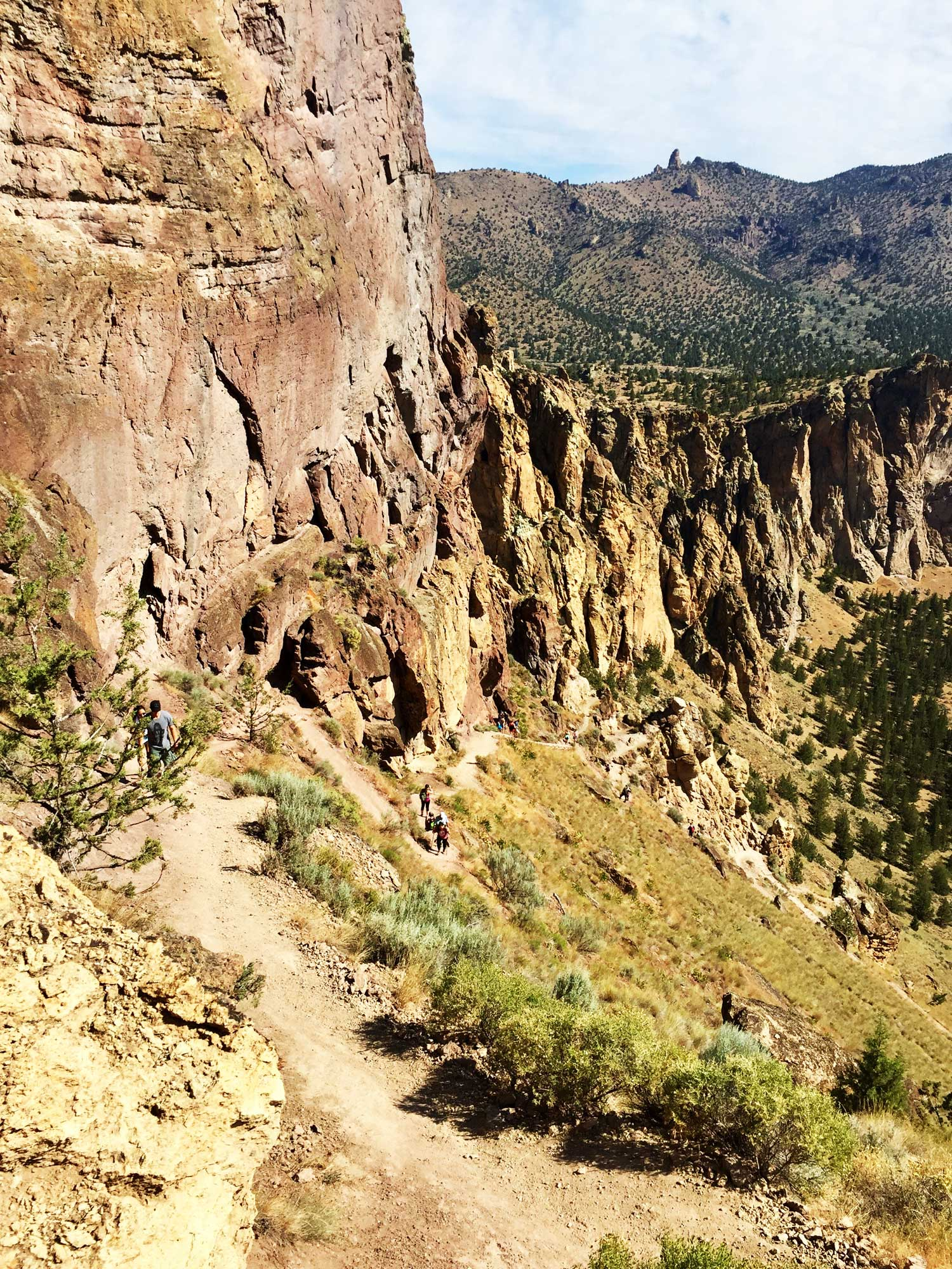Misery Ridge Trail at Smith Rock State Park in full summer sun.
