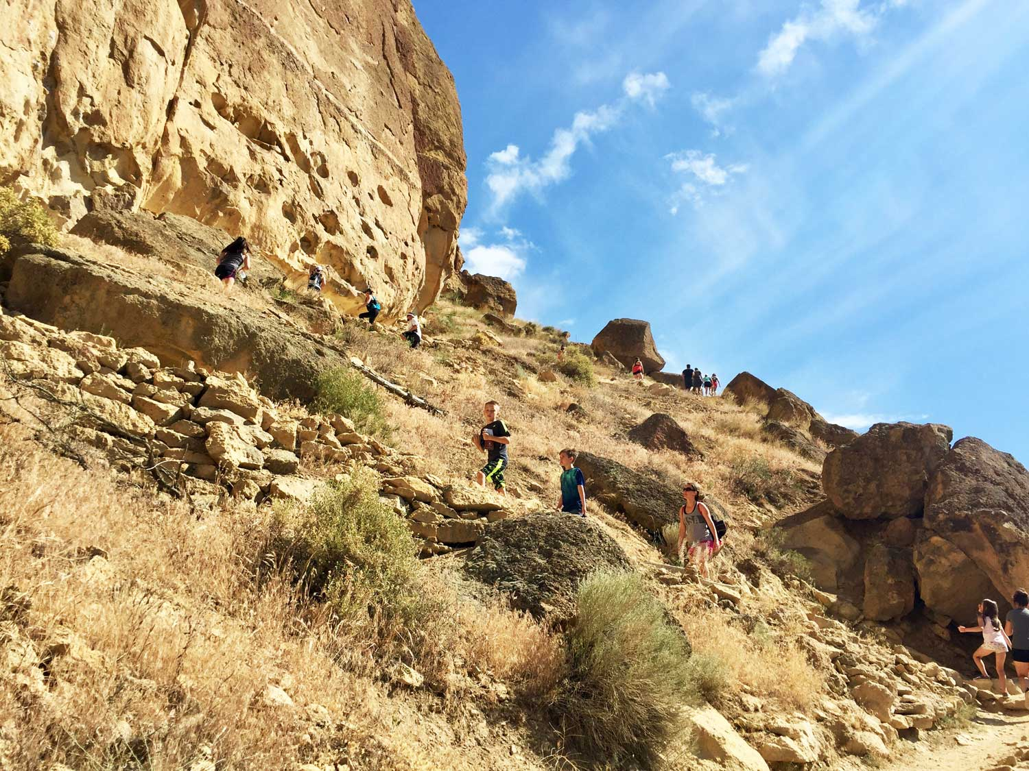 The conga line on Misery Ridge Trail at Smith Rock State Park