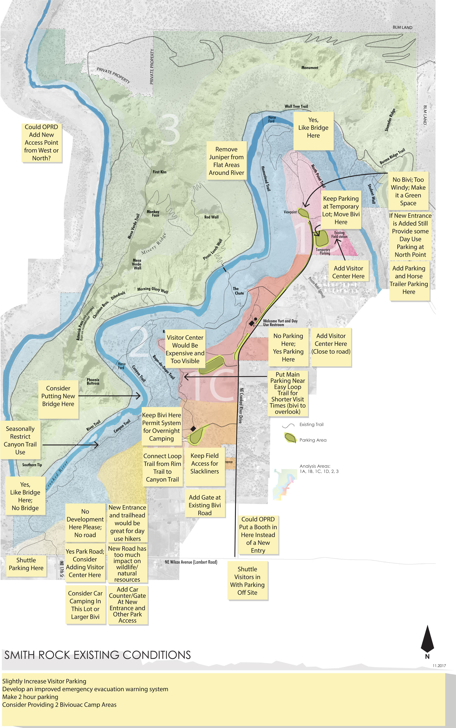Smith Rock Master Plans Feedback from Public Sessions—click to enlarge