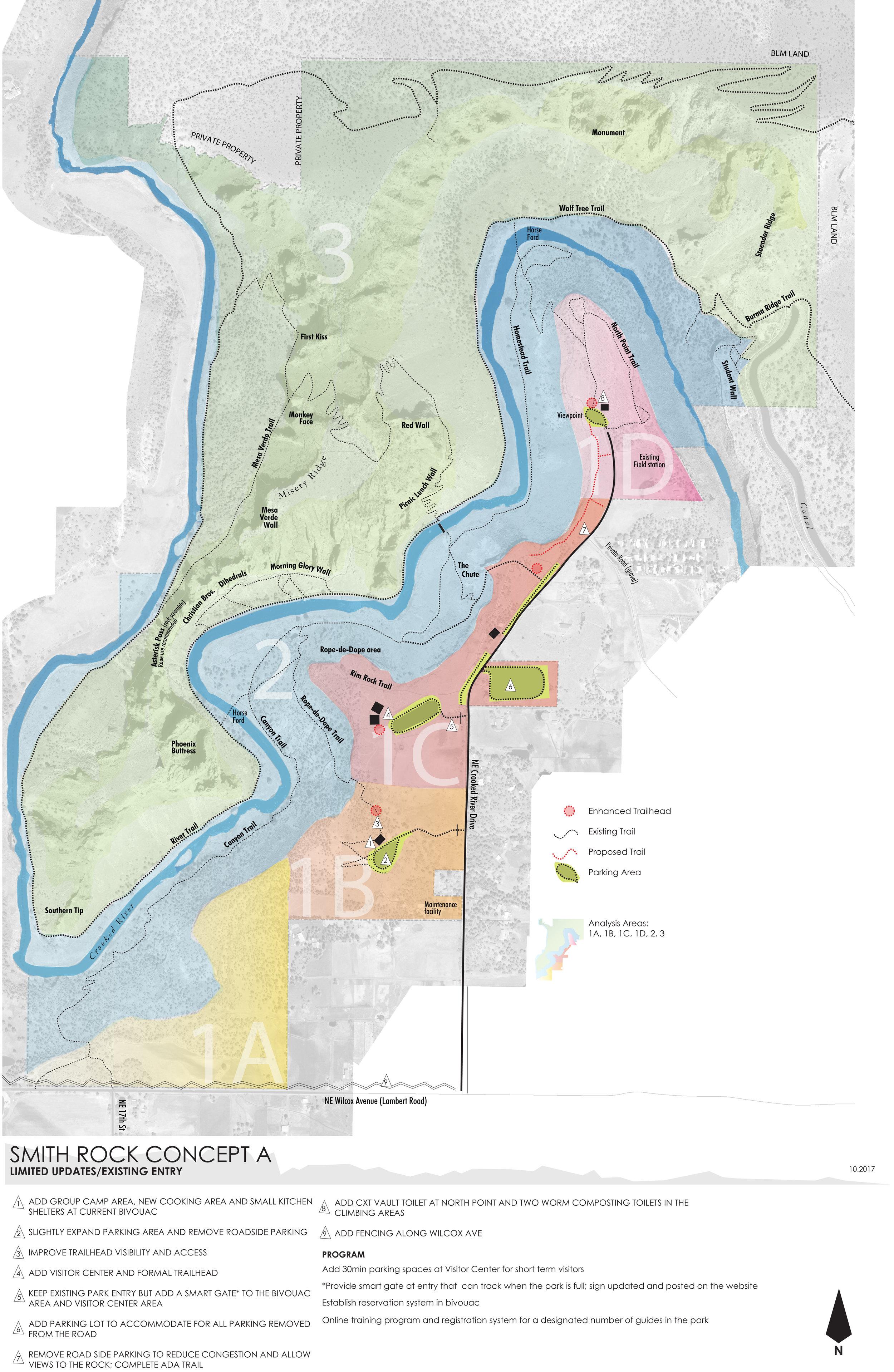Smith Rock Master Plan Concept A—click to enlarge