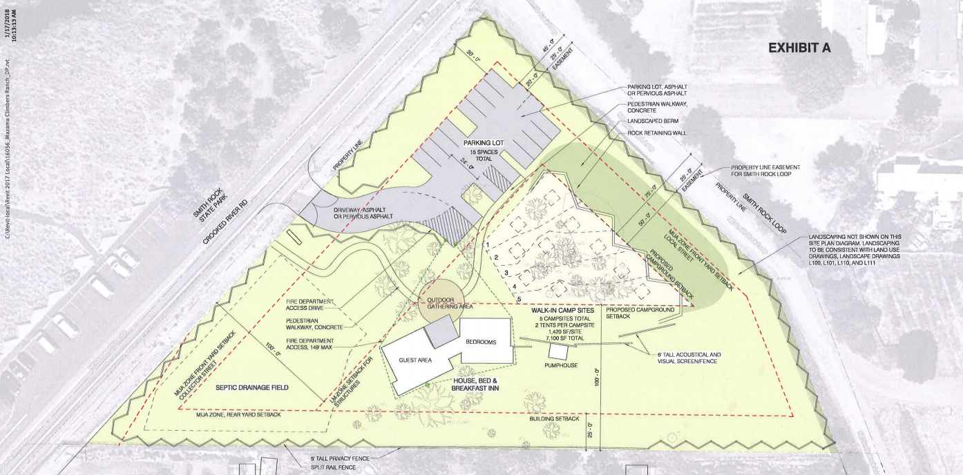 Revised Mazama Ranch proposal. Click to enlarge.