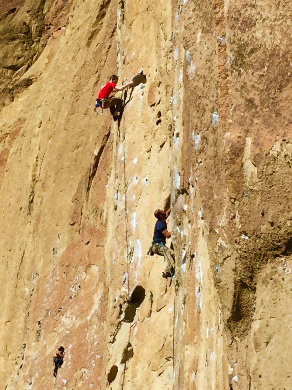 climbers in the Dihedrals Smith Rock State Park