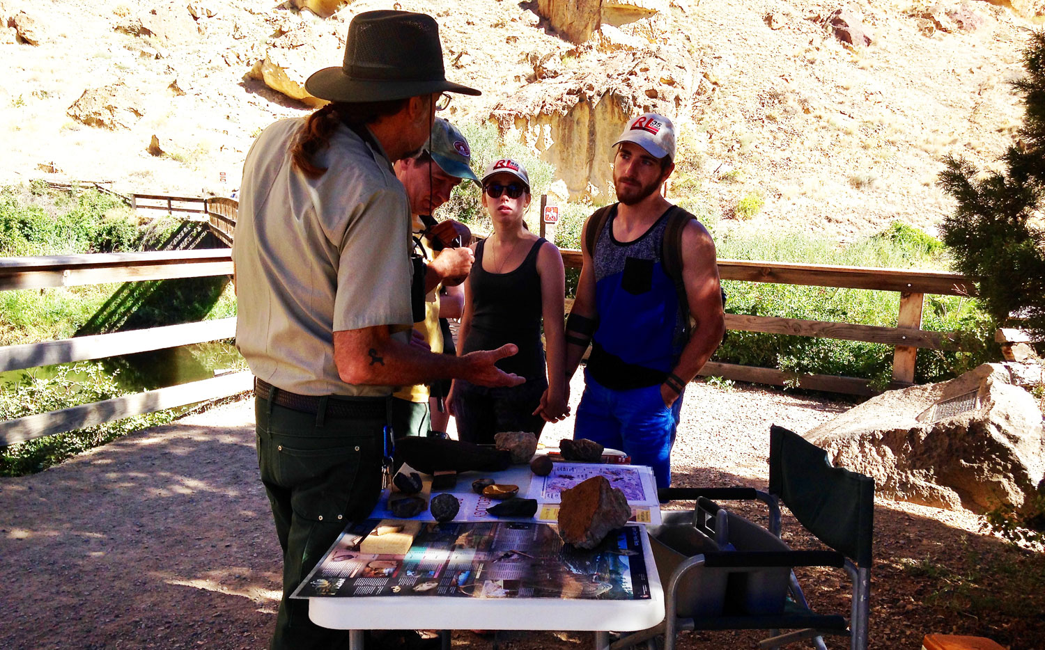 Smith Rock State Park Interpretative Naturalist David Vick answers questions about the park's explosive past.