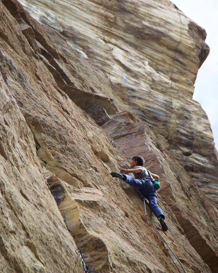 Alex Reed sending Capacity Tenacity 12c, First Ascent