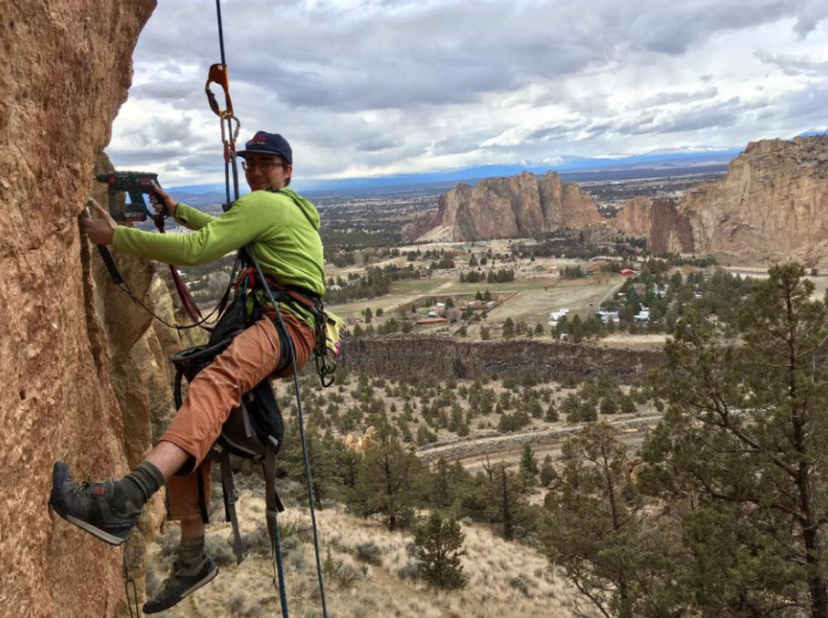 Alex bolts two new routes on Brogan Spire's North Face. A 5.13 project and a 5.12 project.