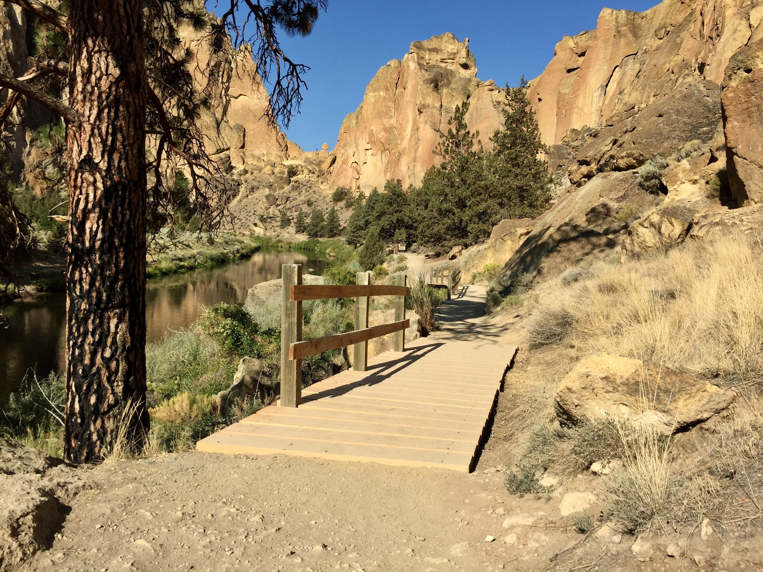 one of four new boardwalks on the River Trail at Smith Rock State Park