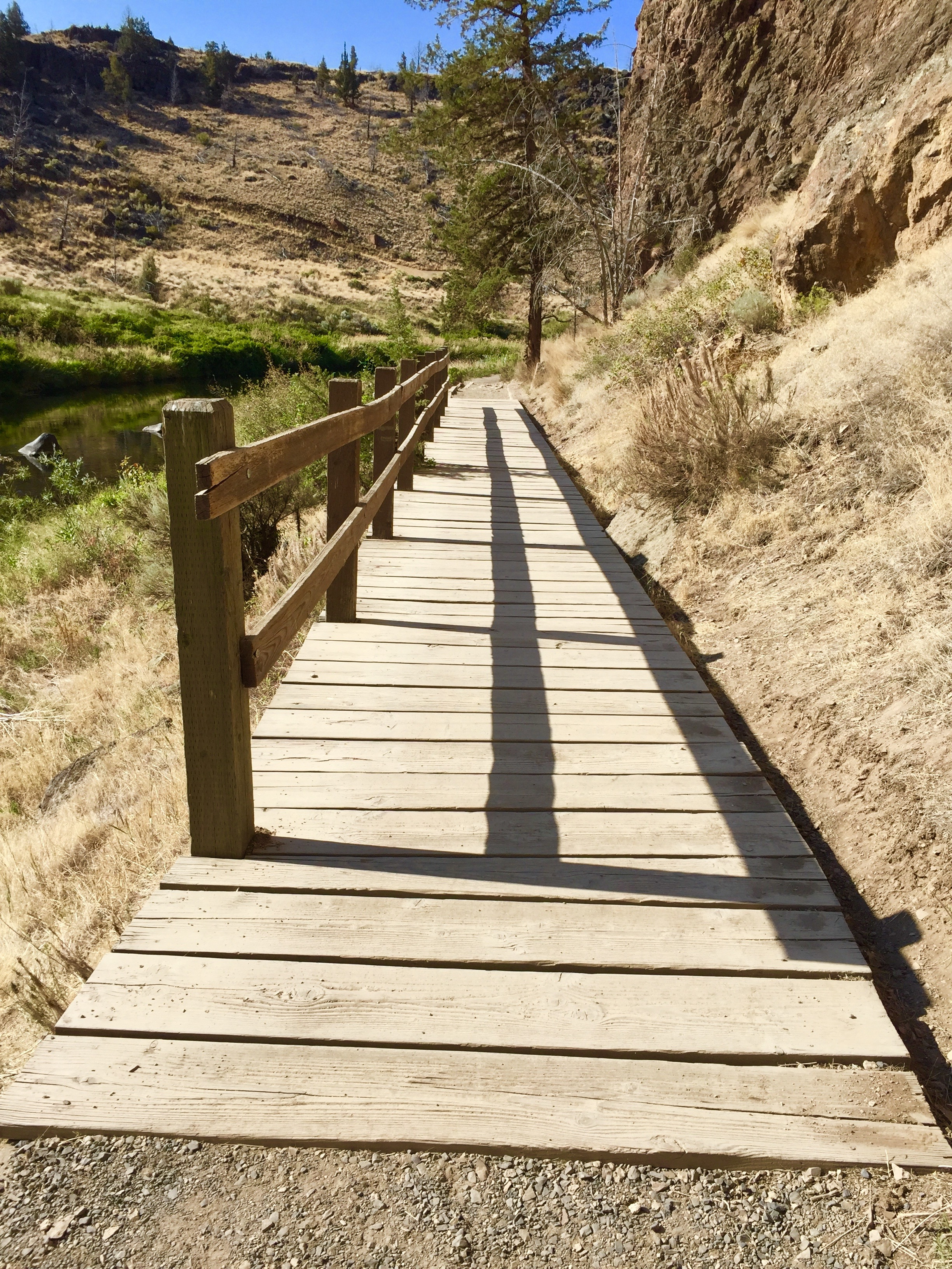 old boardwalk on the River Trail at Smith Rock State Park