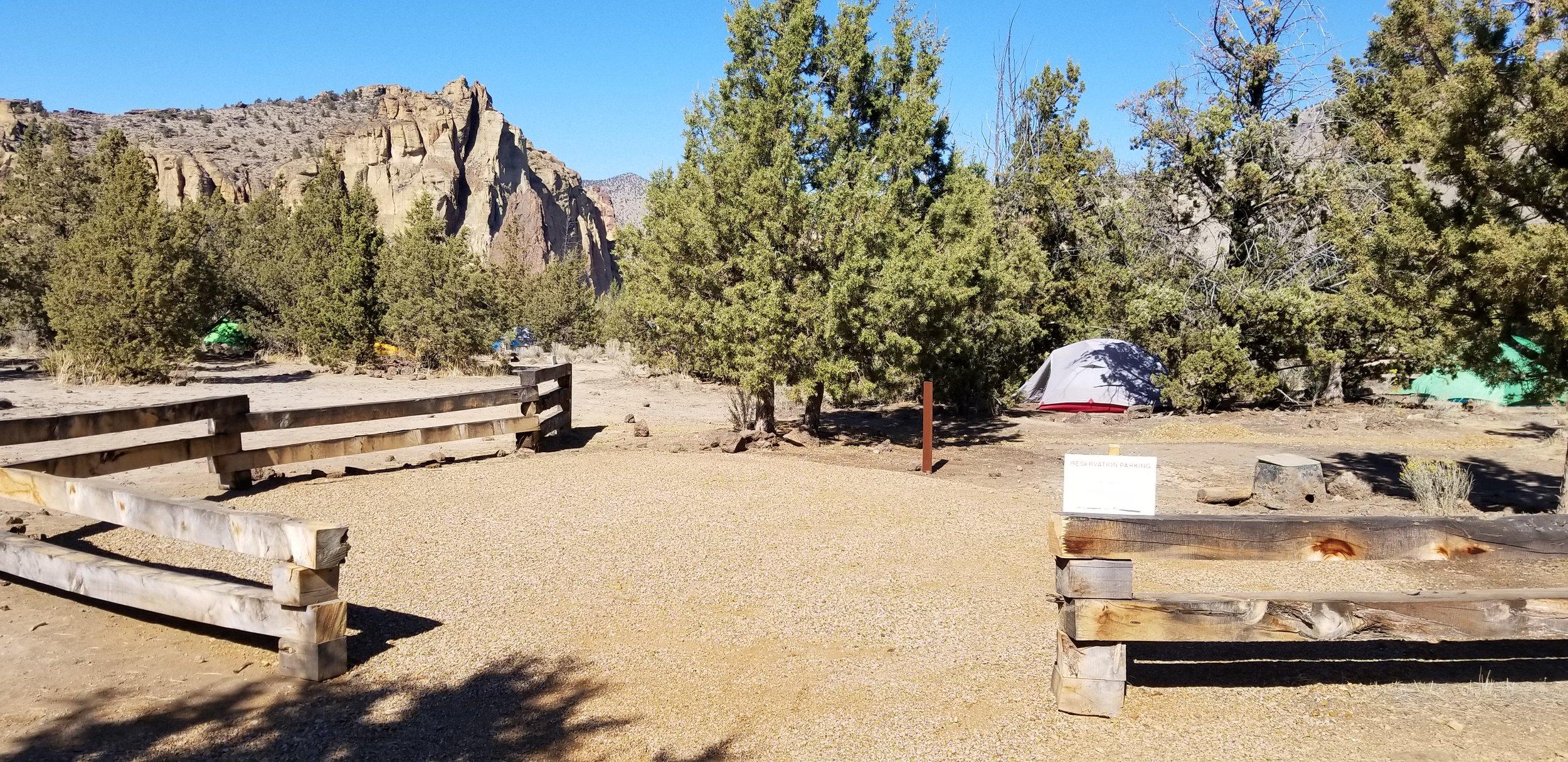 ADA campsite in the Smith Rock State Park Bivouac area