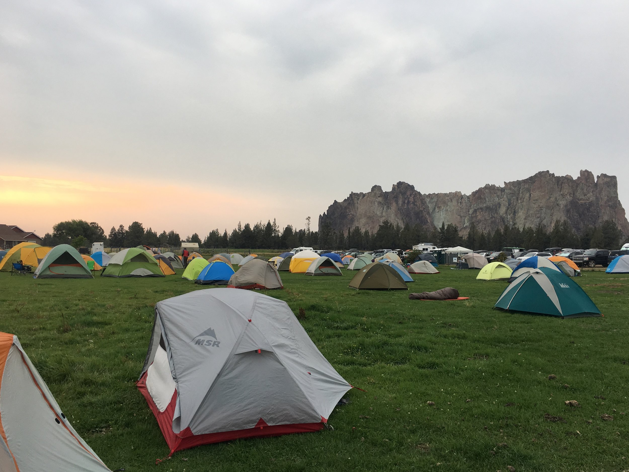 Camp sites at the 2018 Smith Rock Craggin' Classic