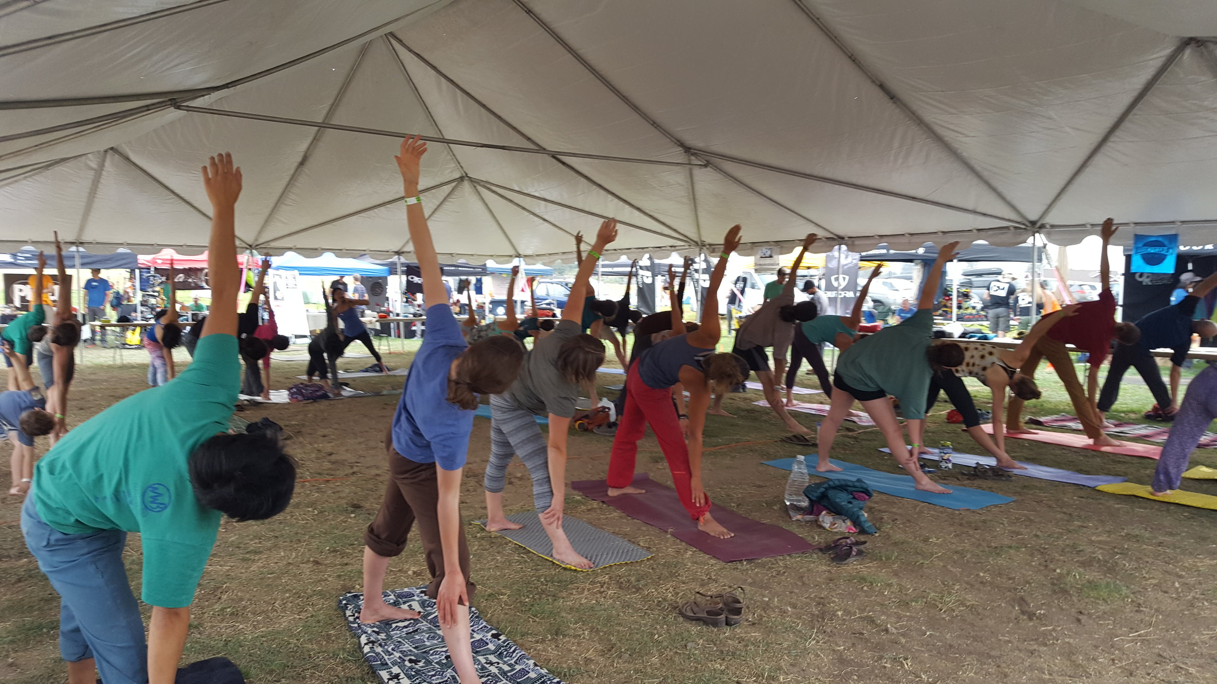 Yoga was offered again this year at the Craggin'