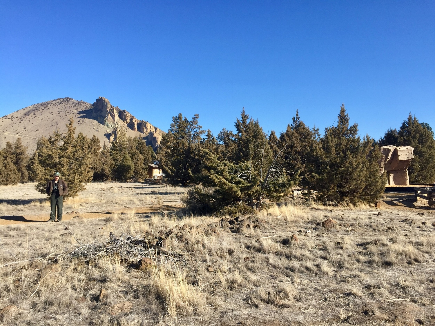 The new Rim Rock Trail extension coming from the South Point Area Lot empties out on to existing trails in the Bivy Campground to continue past the Day Use Area. Click to enlarge.
