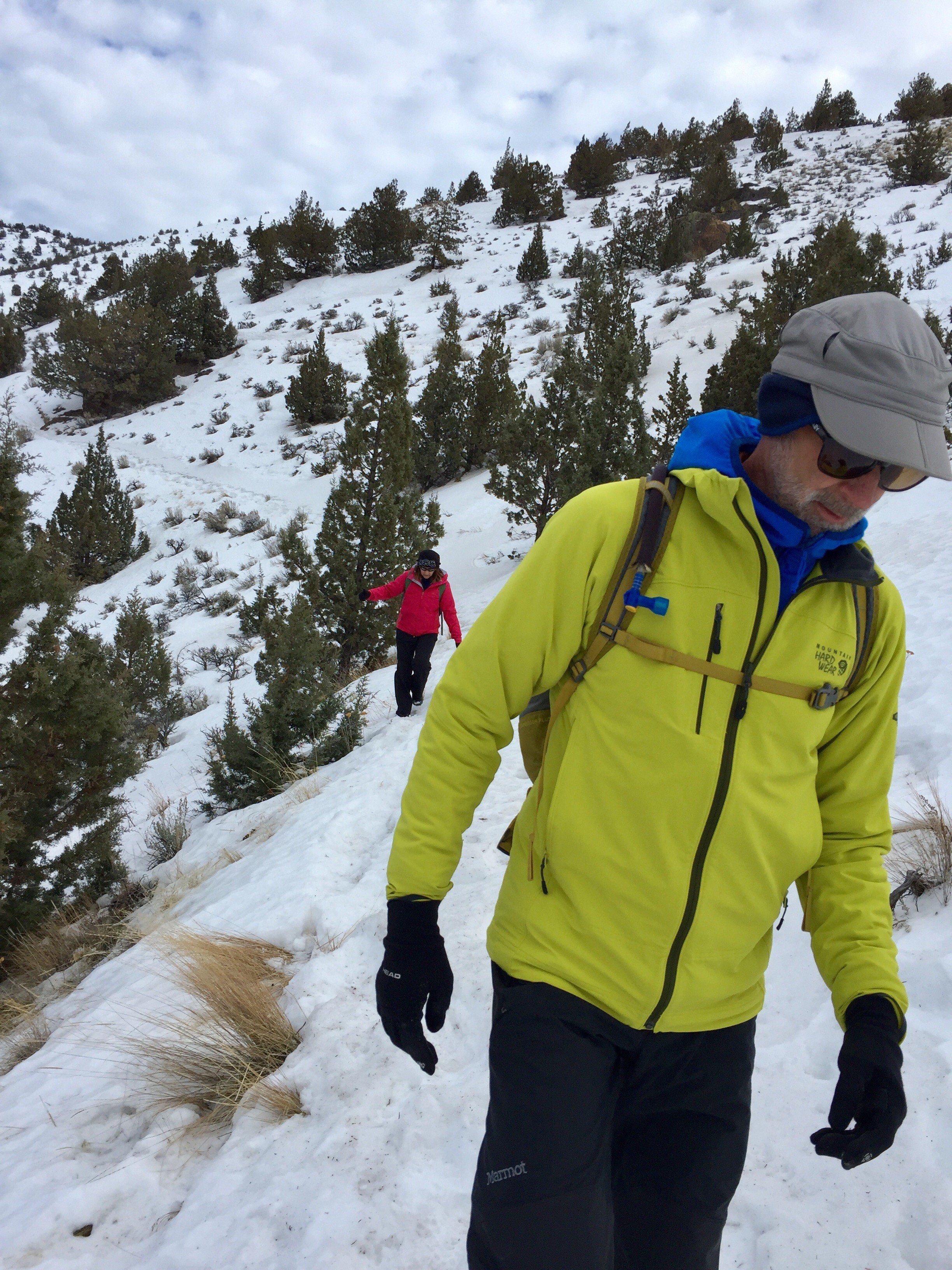Adding a light pack with layers to adjust to weather changes along with a hydration pack is essential in the winter and summer months at Smith Rock.