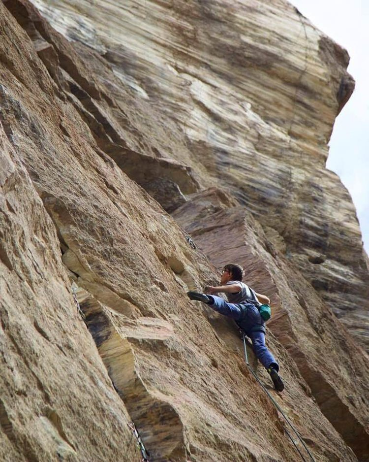 Alex Reed sending  Capacity Tenacity ,12c, First Ascent
