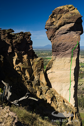 East Face  route on Monkey Face.  Image by SmithRock.com