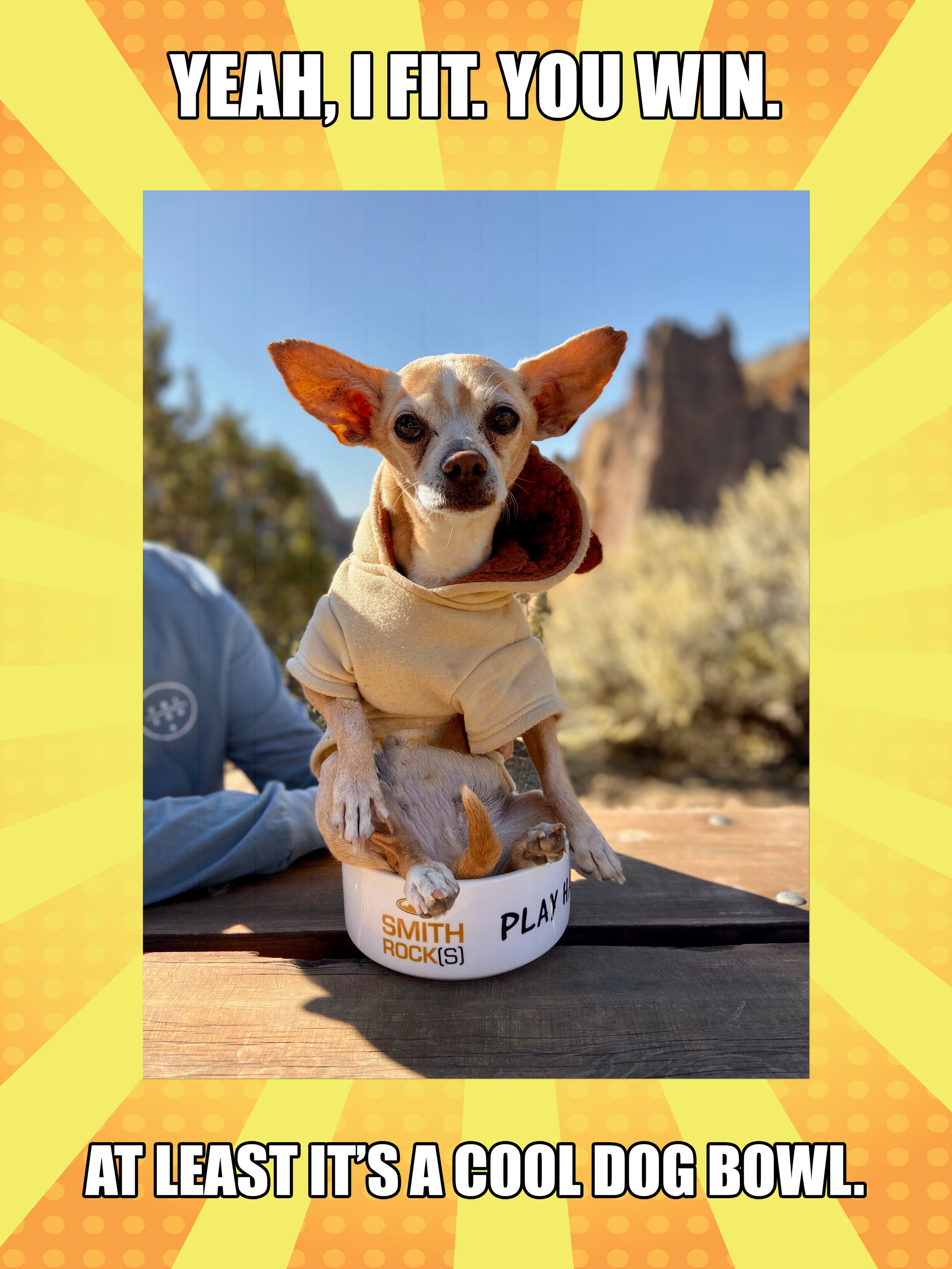 AND NO, TICO WAS NOT HARMED DURING THIS PHOTO SHOOT.  AVAILABLE ONLINE ONLY AT OUR SMITH ROCK SHOP.   FREE STANDARD DOMESTIC SHIPPING.