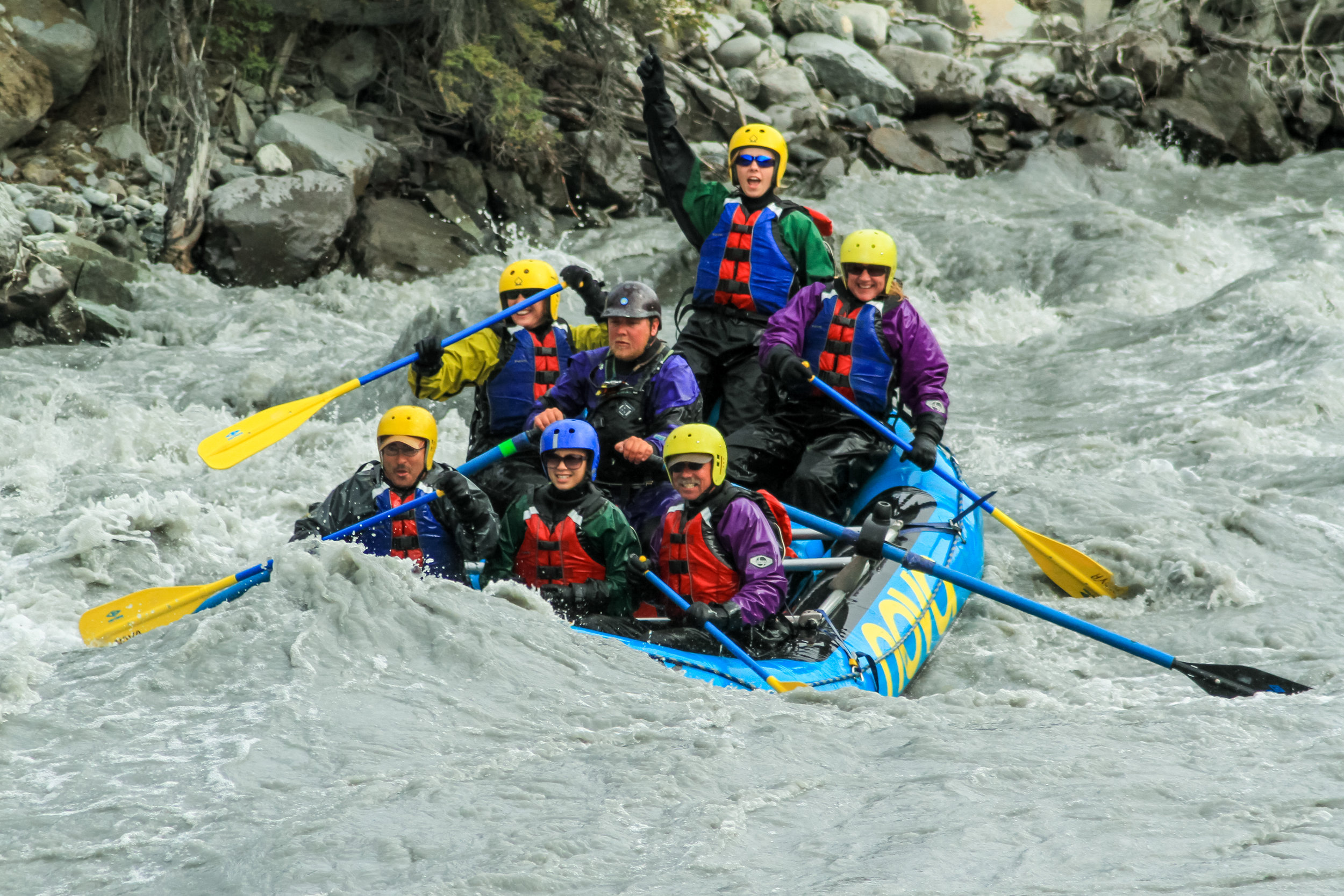 Rafting with Nova River Rafters.