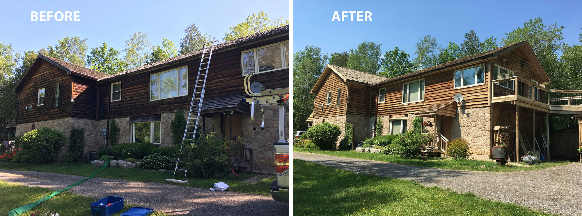 Cedar siding cleaning and reconditioning oakville ON