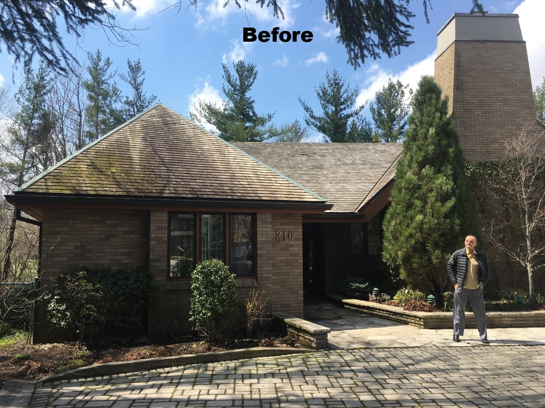 Cedar roof stain removal Etobicoke