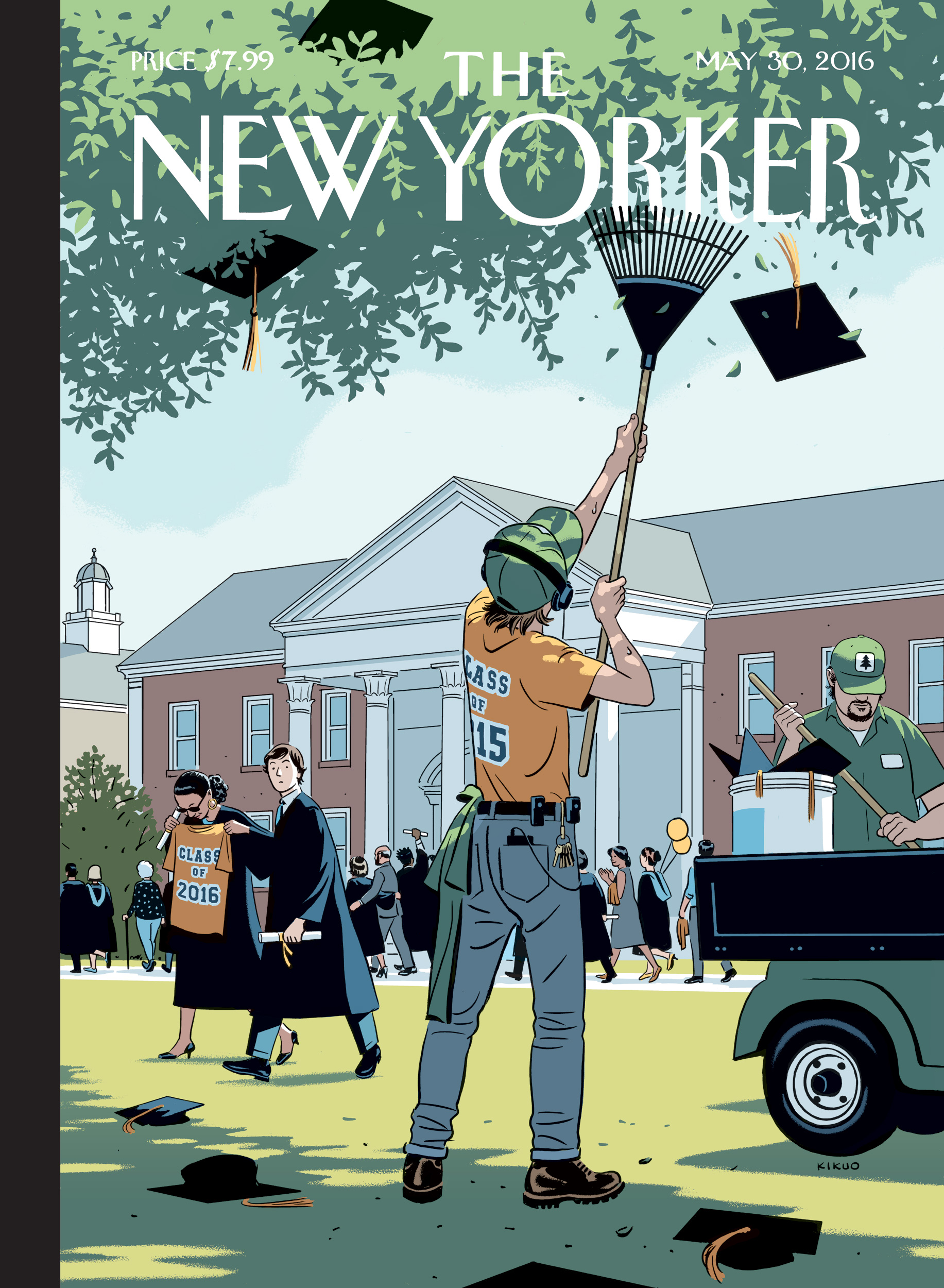 ↑  Graduation-themed  New Yorker cover.   Thank   you Michael Canva for the close and flattering analysis of this piece  in the  Washington Post .  Art Direction: Françoise Mouly