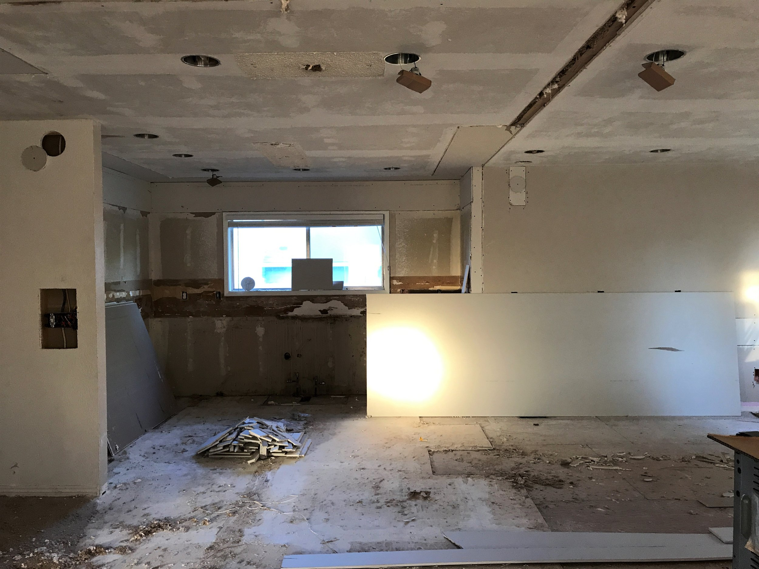 Here is our past and future kitchen.