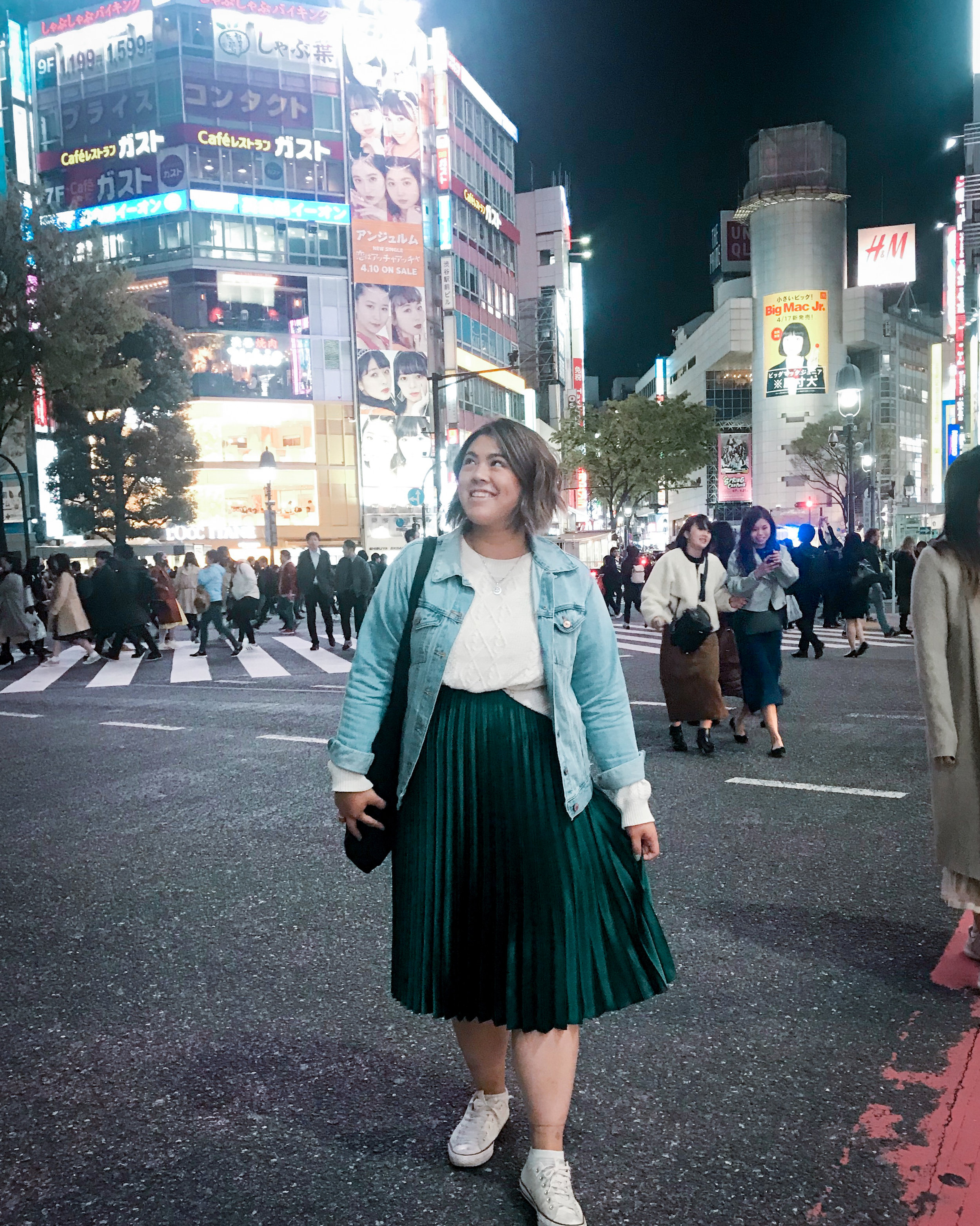 Night out in Shibuya - at Shibuya Crossing