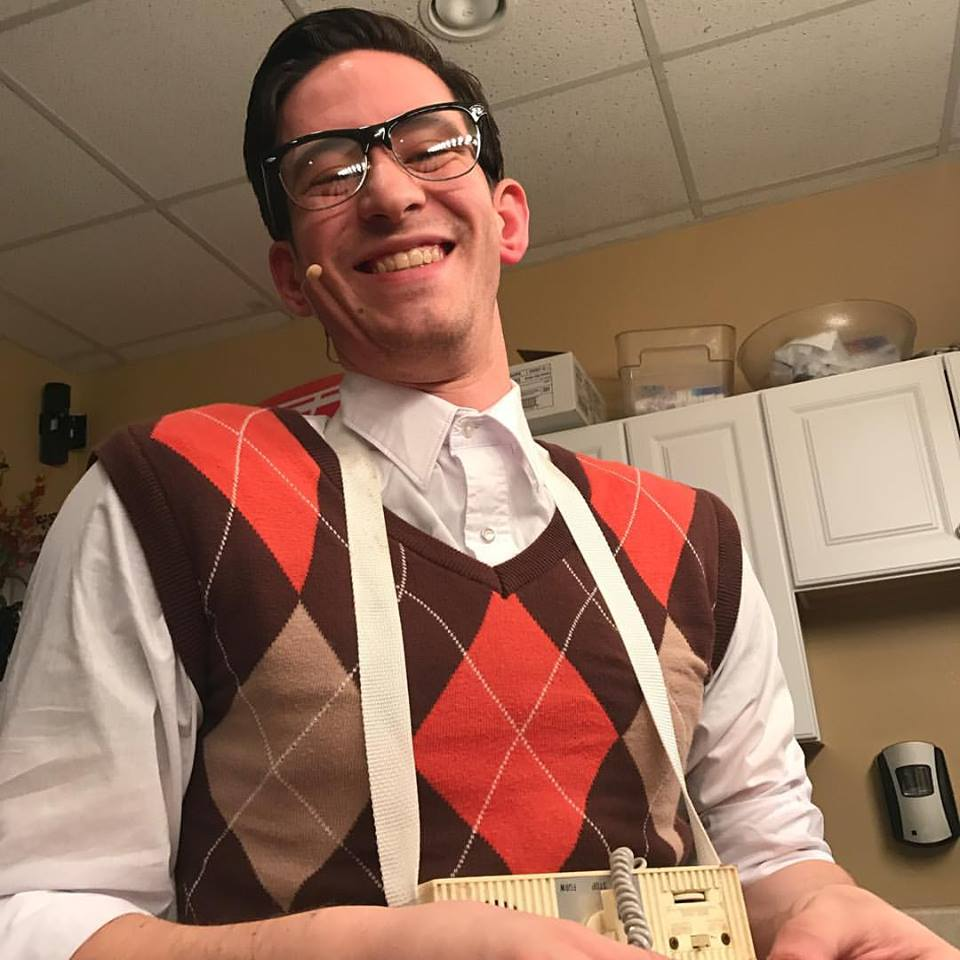 """Max as Apollo DJ, Buddy Holly U/S in the Nat'l Tour of """"BUDDY: The Buddy Holly Story"""""""