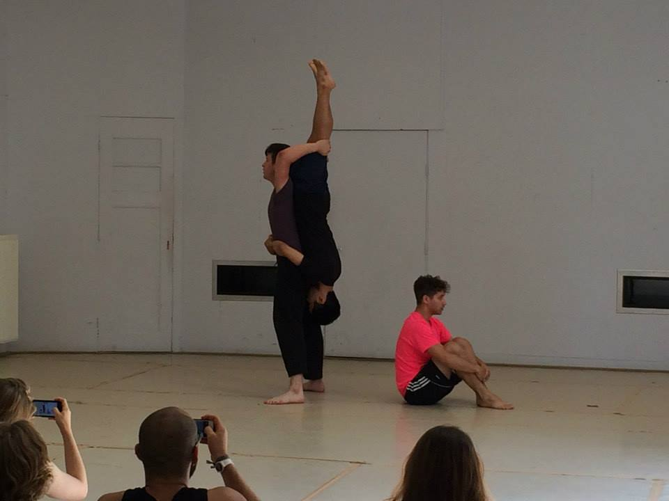 Max in a dance piece that he co-choreographed with Samuel Im, Donovan Mendelovits (Left to Right) in Amsterdam