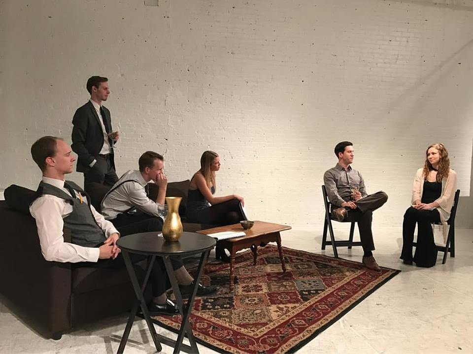 """Max as Harvey in """"The Executioner"""" by Griffin Osborne, presented by Madcap Repertory Theatre."""