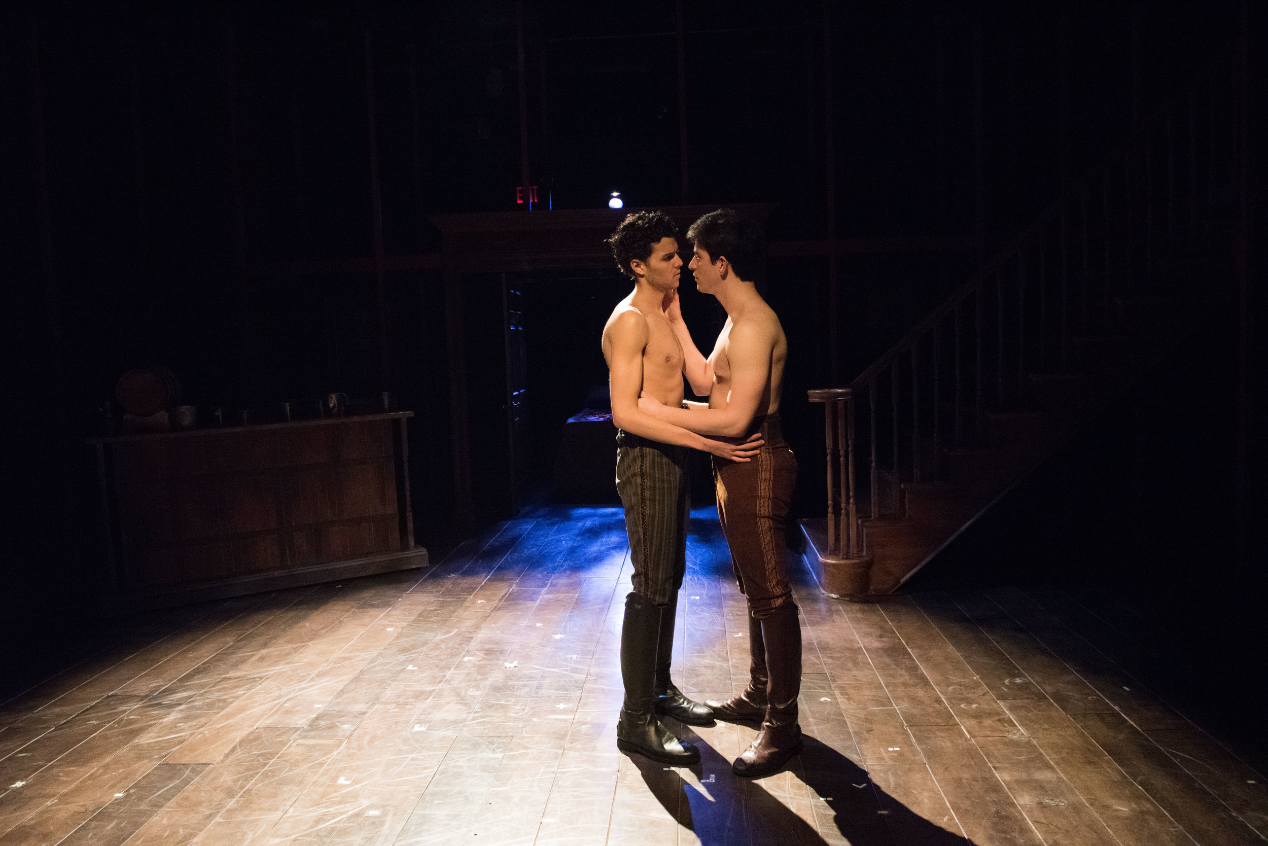 """Max as Mark Partridge alongside Frankie Gonzalez in """"The MollyHouse"""" by Richard Hanson and Divya Maus. Photo by Ahron R. Foster"""