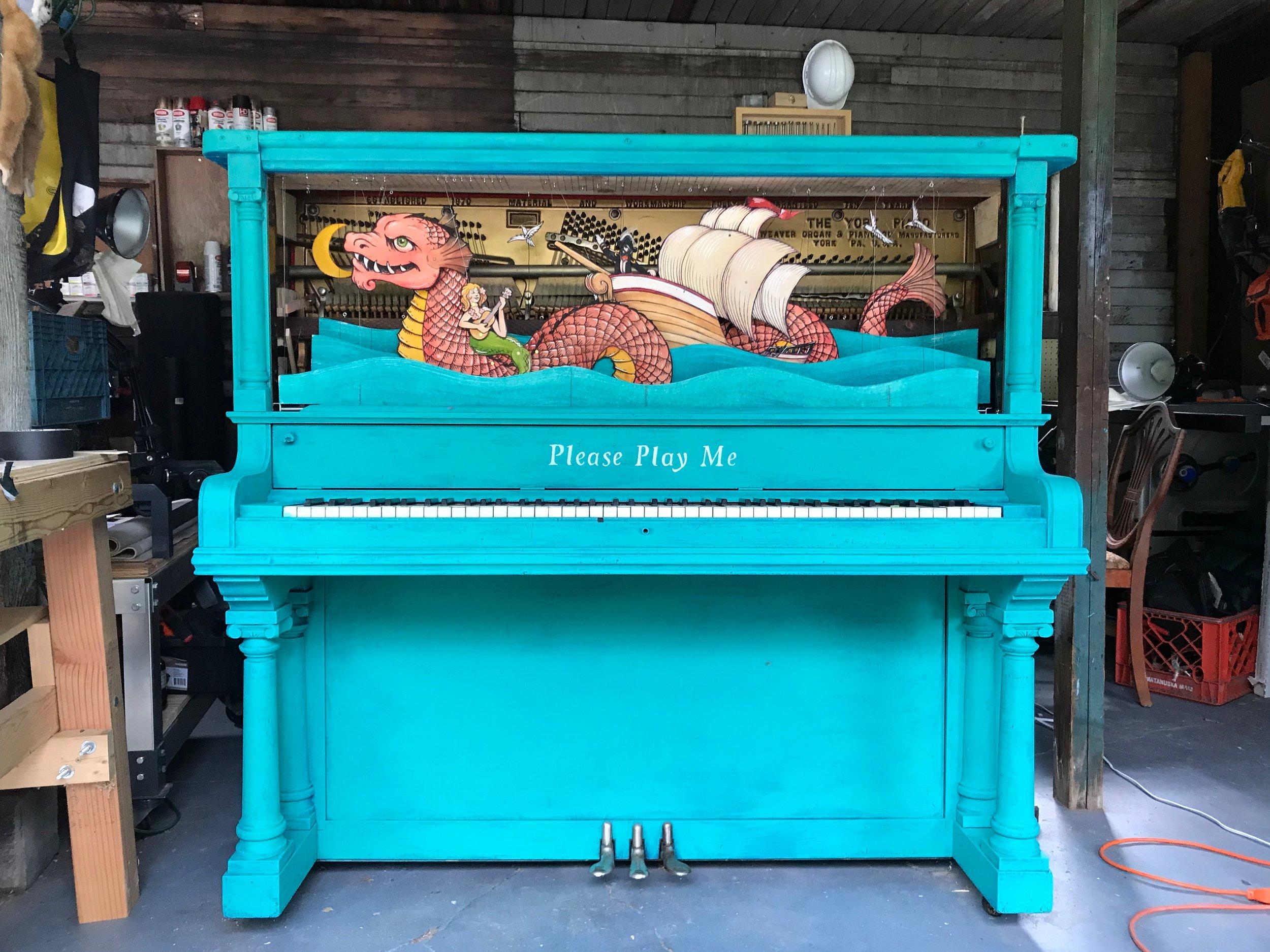 Piano Puppet, in Studio