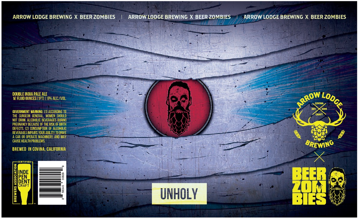 UNHOLY - COLLABORATION W/ BEER ZOMBIESHAZY IPA8% ABV