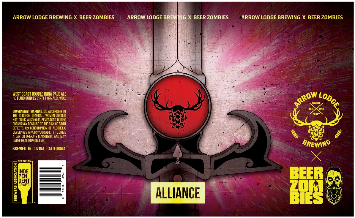 ALLIANCE - COLLABORATION W/ BEER ZOMBIESWEST COAST DOUBLE IPA8% ABV