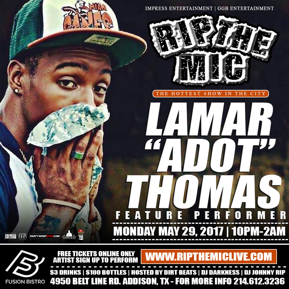 LAMAR ADOT THOMAS RIP THE MIC FLIER.jpg
