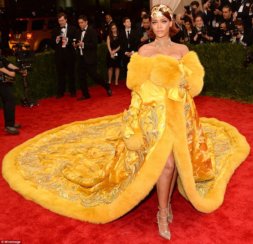 Rihanna, in a Guo Pei couture dress