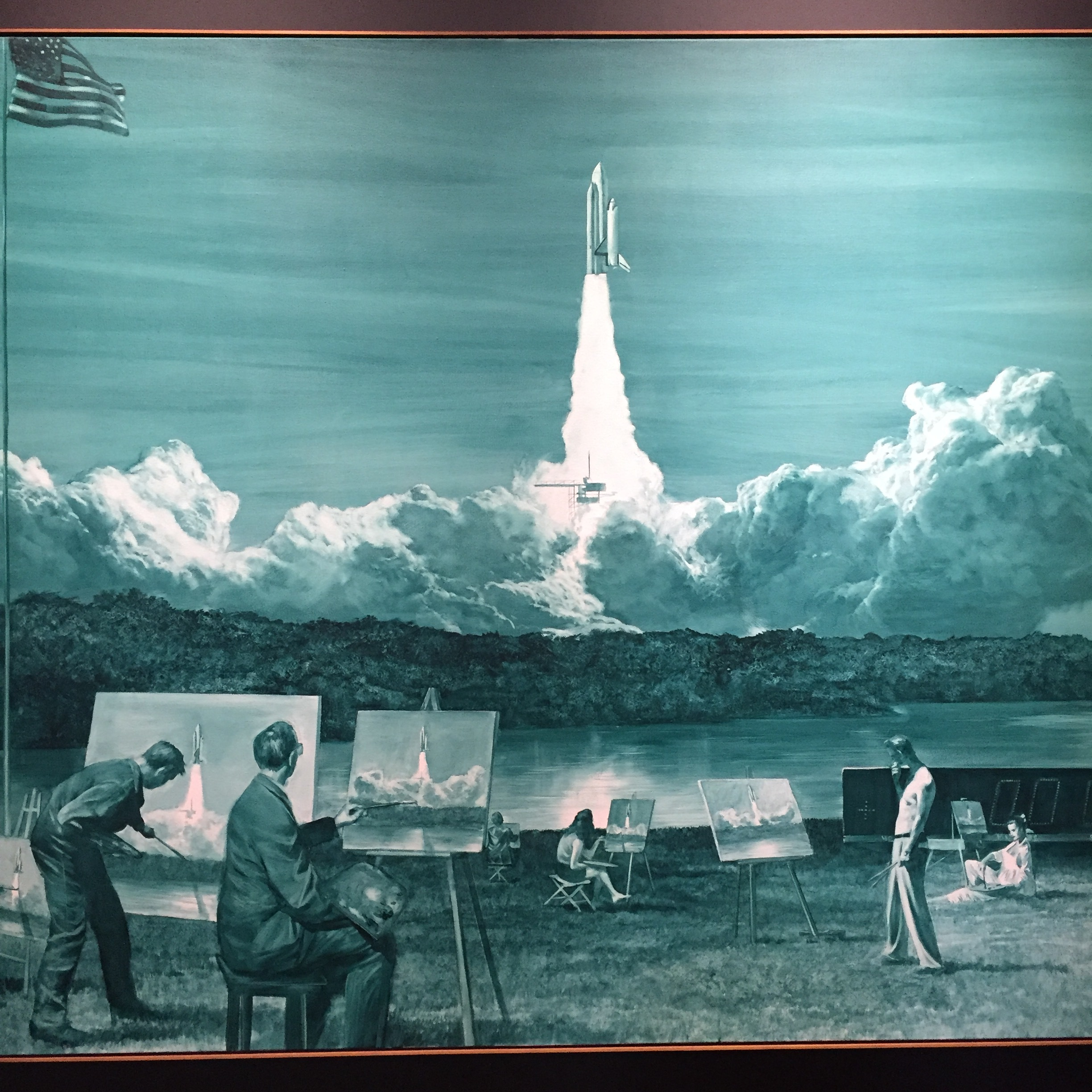 Mark Tansey,  Action Painting II  (1984). I stopped and staired at this work a long time. It really moved me. I have to go back to the museum to look at it again.
