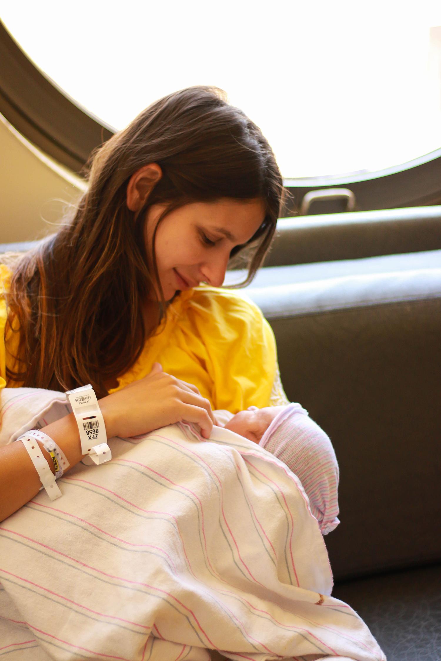 mama and newborn