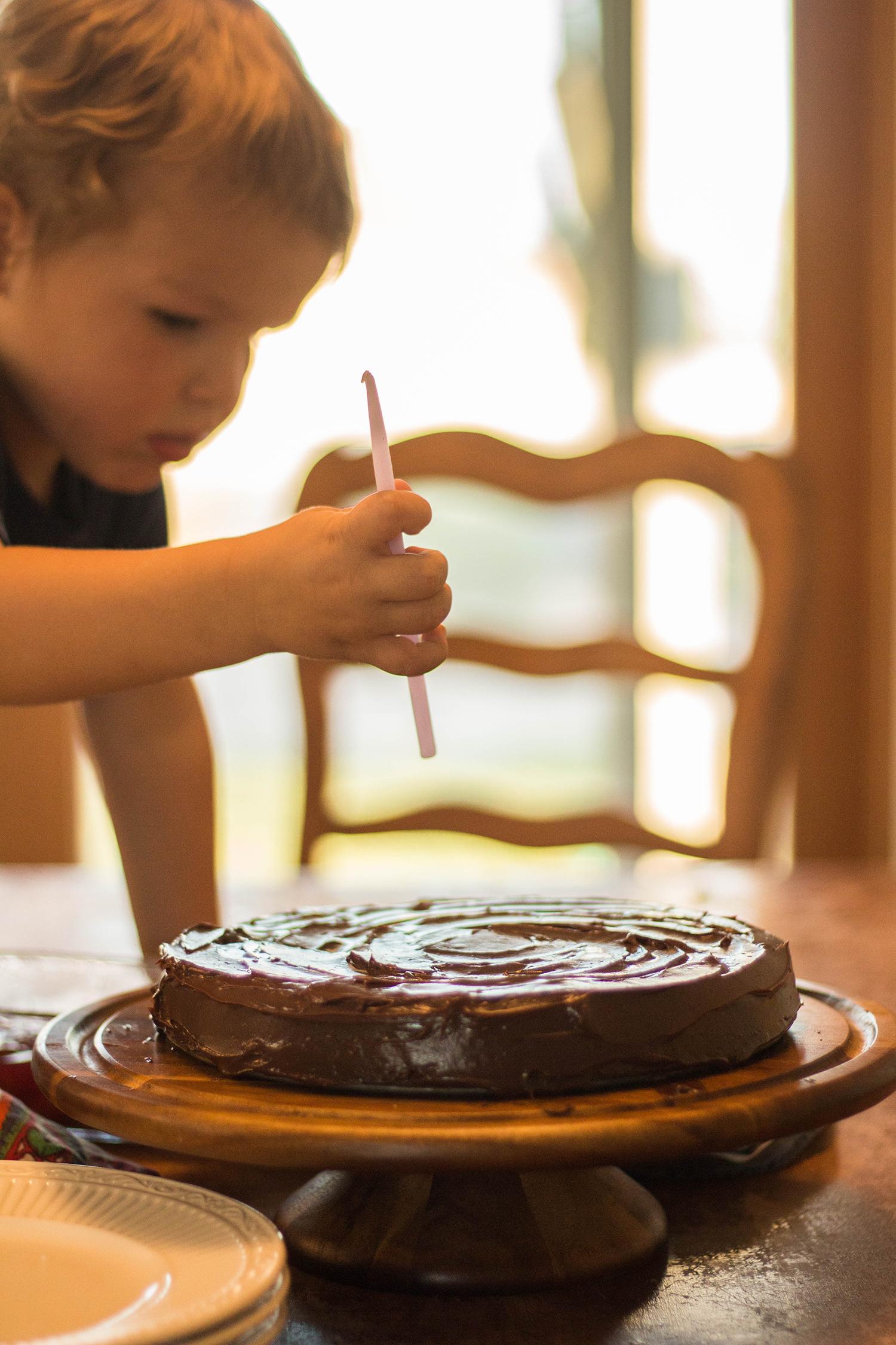kid candles cake