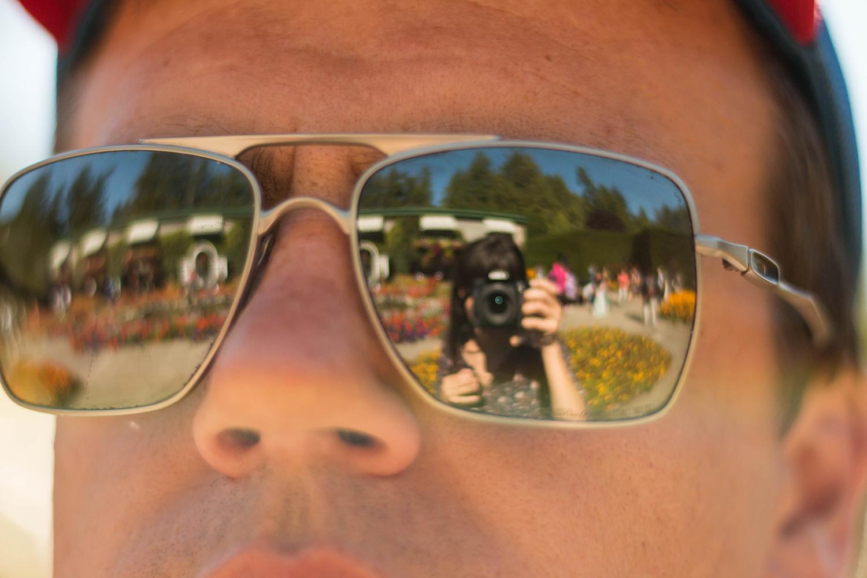 butcher gardens through sunglasses