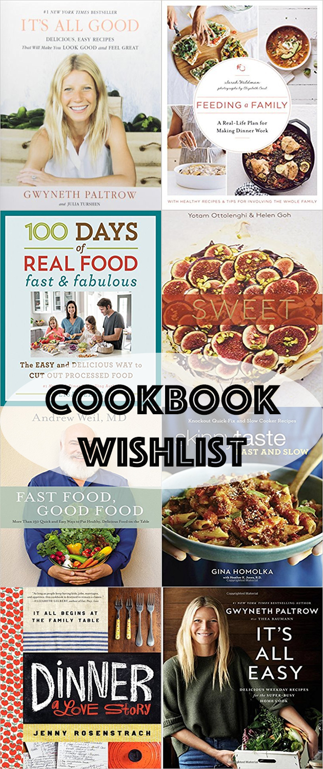 mainly healthy cookbook wishlist