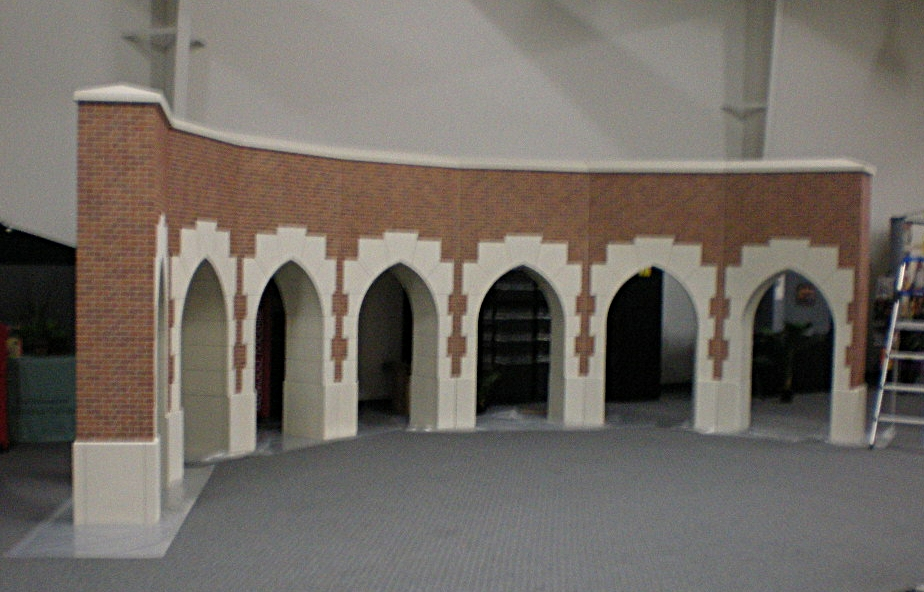 The arches in progress. Sorry about the blurry picture. All I had was a flip phone back then.