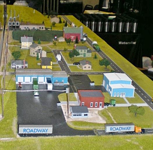 Model for Best Way Disposal showing how they generate electric power from methane trapped from the landfill in Watervliet MI