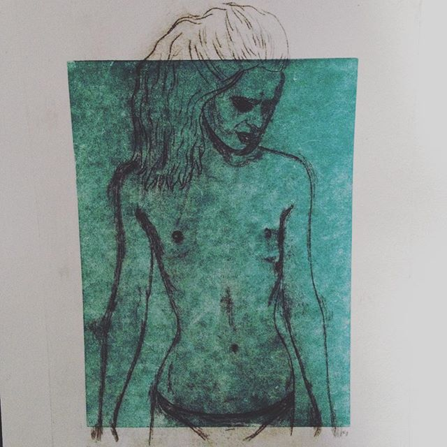 The Junkie Files, Nude  Franzi Sordon  { a dear friend & excellent artist, please support + check out her work at  @Frannygoesprint  }