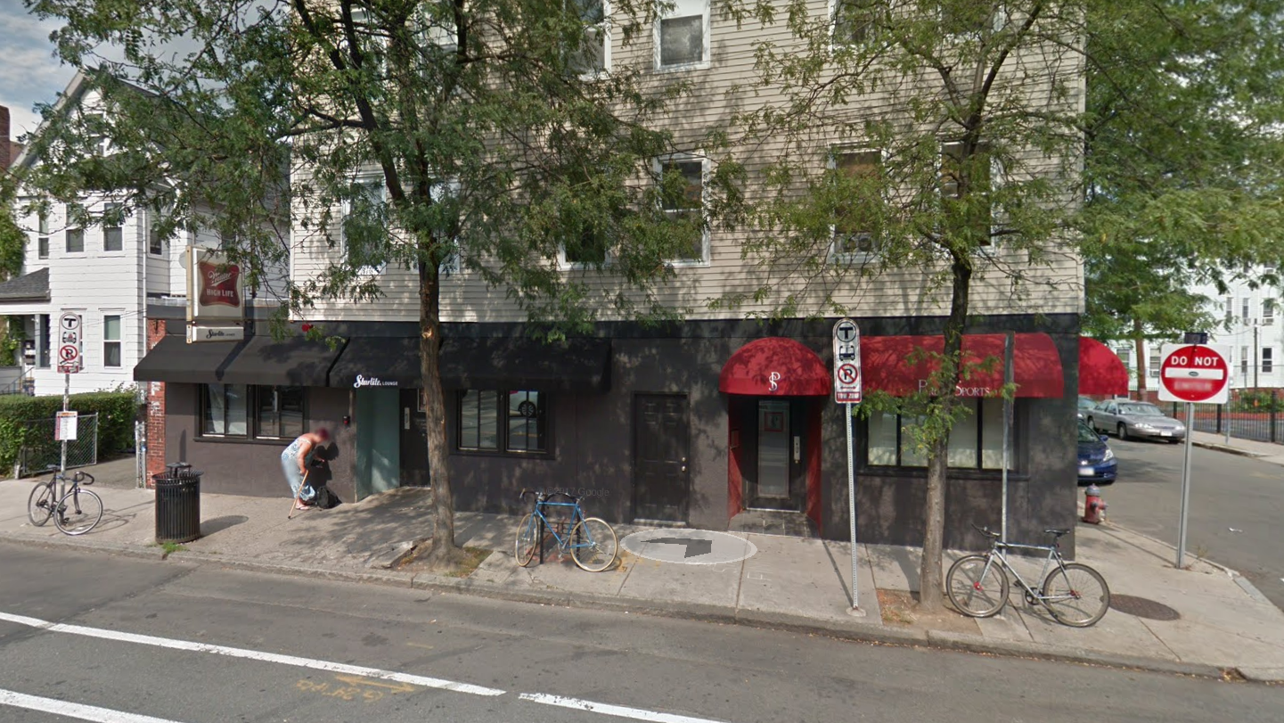 Site of The Abbey Lounge, 3 Beacon St, Somerville, MA                      credit: Google Street View