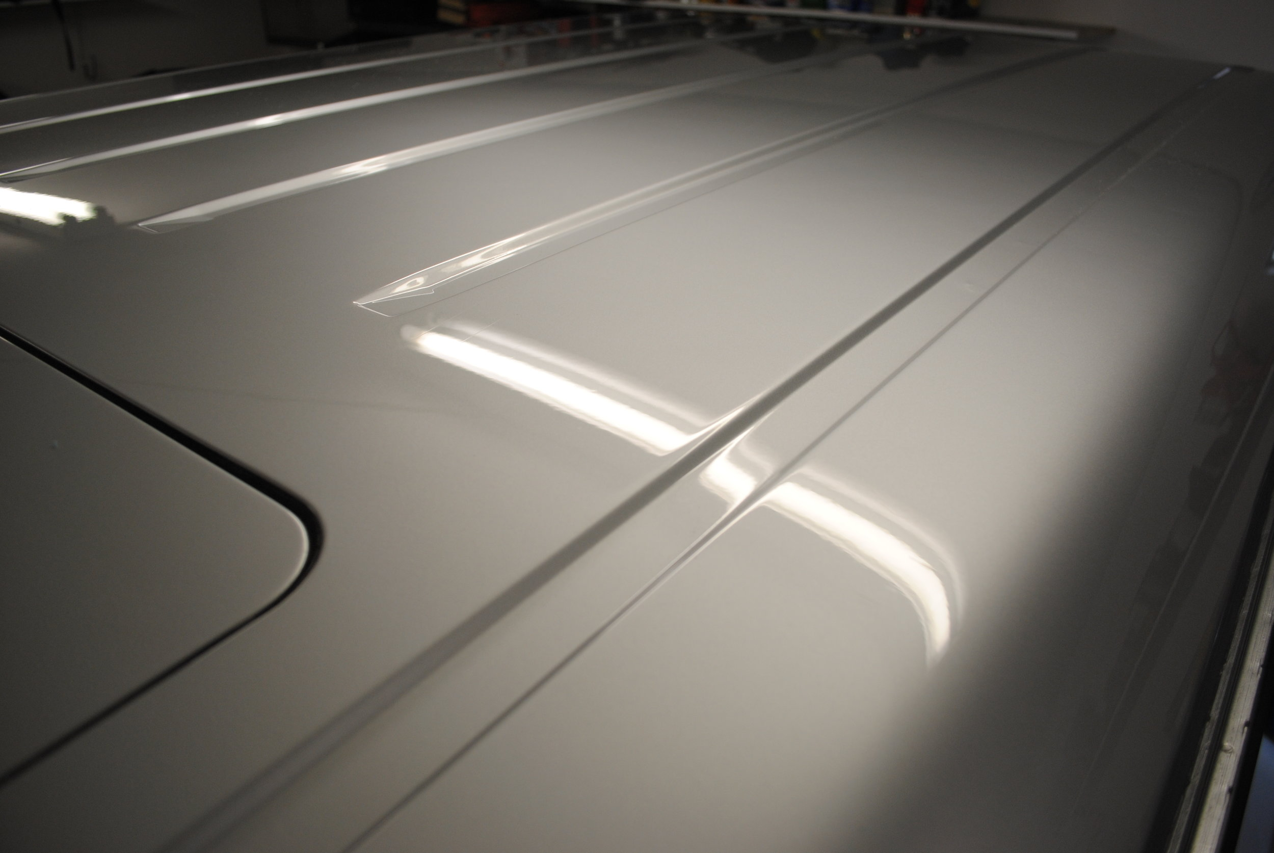 Post spot polish, removed any visible damage, deep scratches to be wetsanded