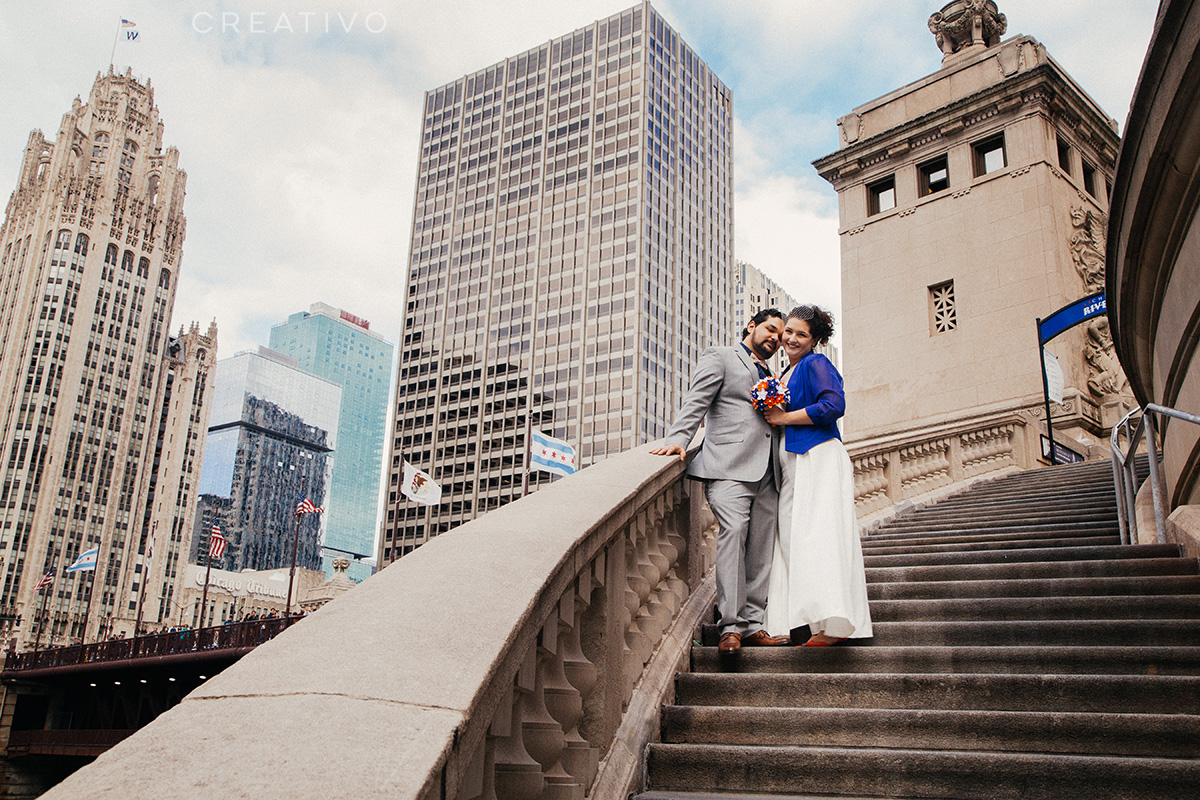 5. Elopement among Chicago's great architecture. A good idea any time of year, but especially during months when gardens are dormant.
