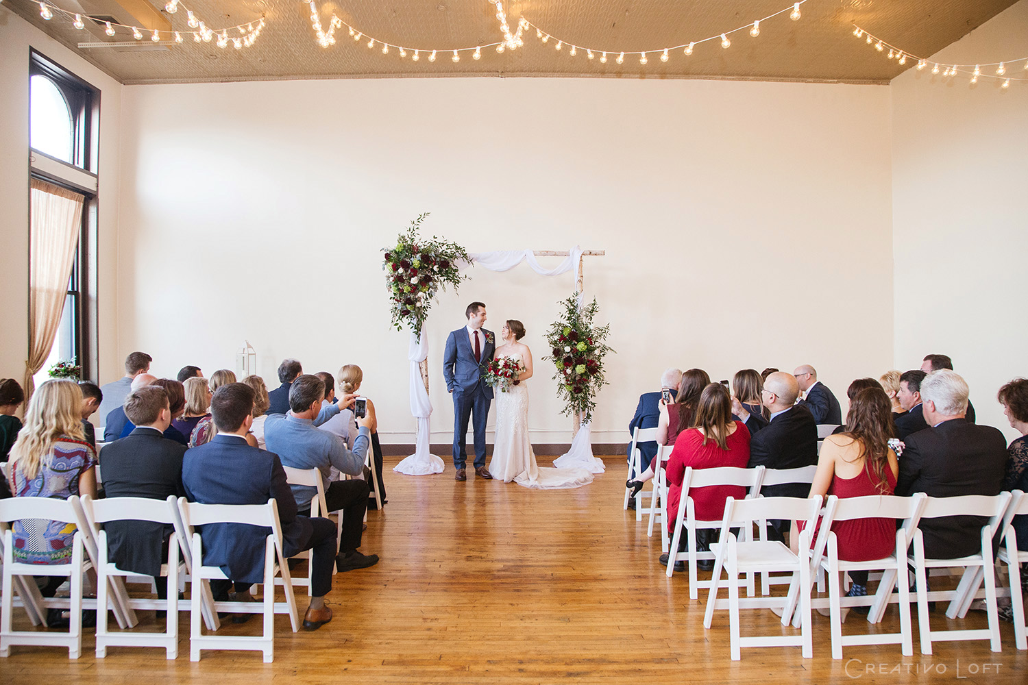 14. Chicago loft elopement with 30 of your friends and family at Creativo Loft
