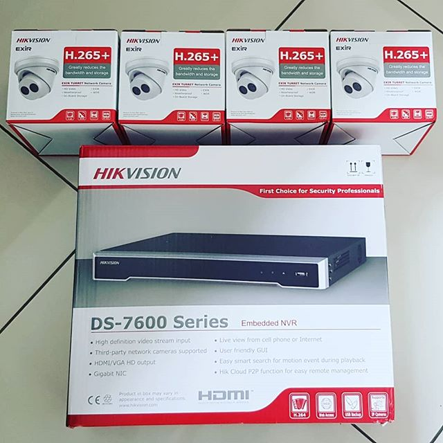 4K Ultra HD Hikvision kit arrived today ready for installation on Thursday.  #4k #ultrahd #hikvision #cctvinstallation #cctvcamera #homesecurity  www.ajsecuritysolutions.com