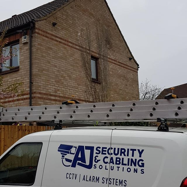 4 camera CCTV installation completed for a customer in Milton Keynes today.  Get in contact on 07841621645 if you are interested in a CCTV system for your property at a reasonable price.  www.ajsecuritysolutions.com