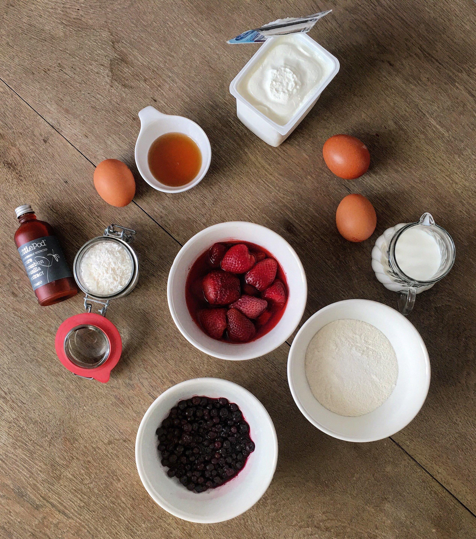 Zutaten Protein-Pancakes / Eiweiß-Pfannkuchen